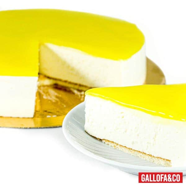 porción tarta fría queso y limón
