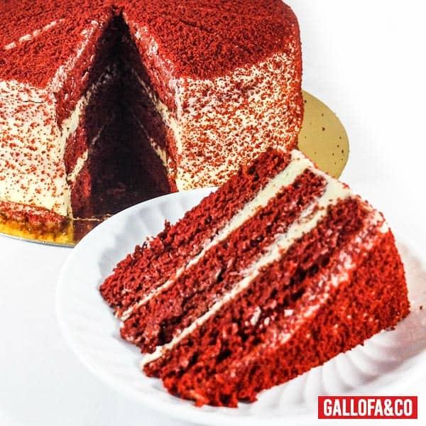 porción tarta red velvet