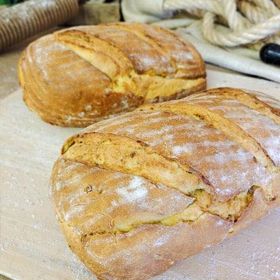 hogaza de pan de maíz
